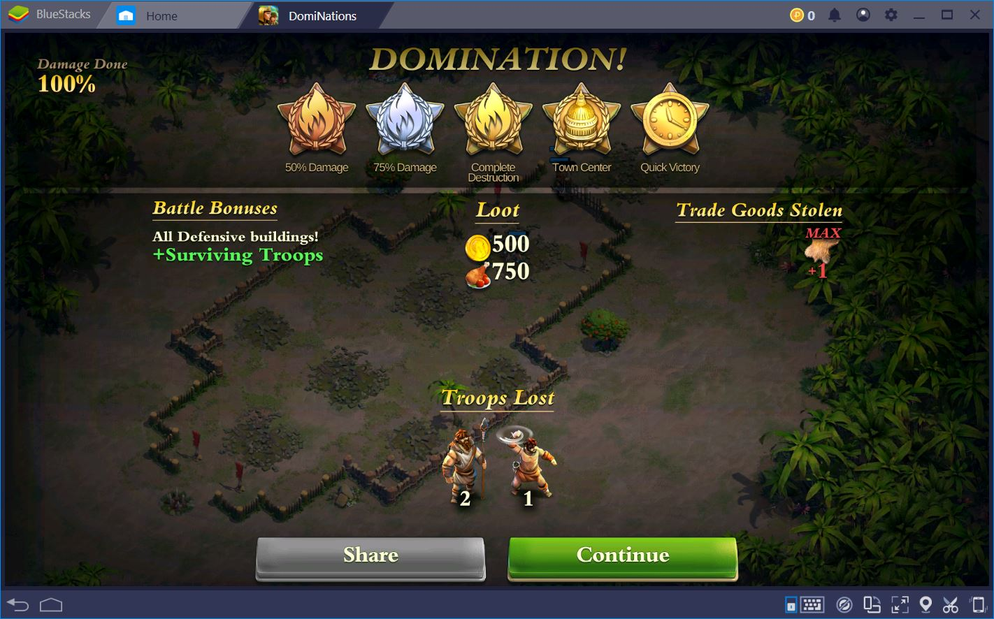 DomiNations: Conquer the World with BlueStacks