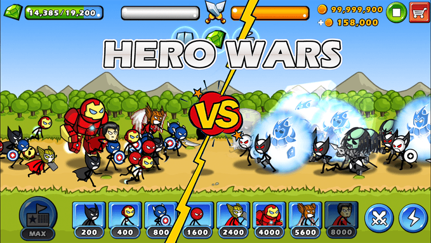 Chơi HERO WARS: Super Stickman Defense on PC 2