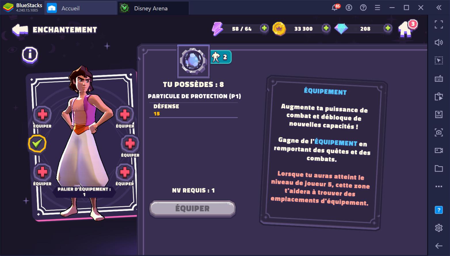 Disney Sorcerer's Arena Guide sur le leveling