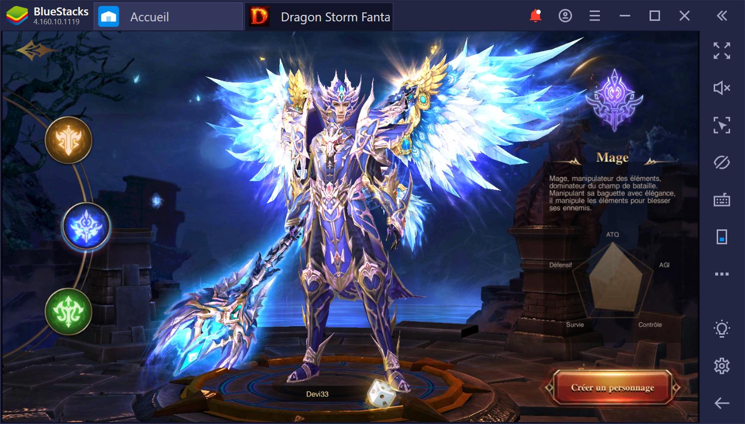 Dragon Storm Fantasy sur PC : guide sur les classes et l'amélioration du personnage