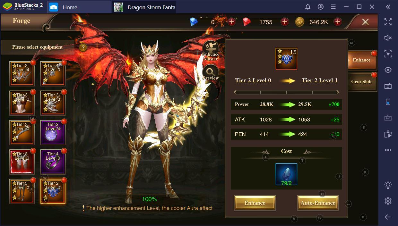 Dragon Storm Fantasy auf dem PC: Leitfaden zur Verbesserung von Klasse und Charakter
