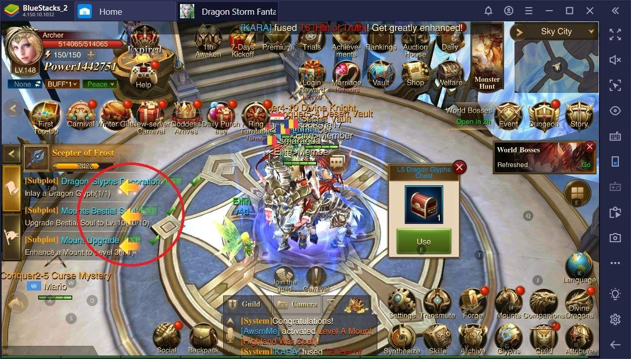 Dragon Storm Fantasy auf dem PC: Wie man schnell auflevelt