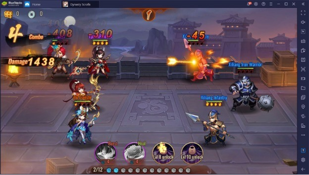 Dynasty Scrolls играем на ПК с помощью BlueStacks
