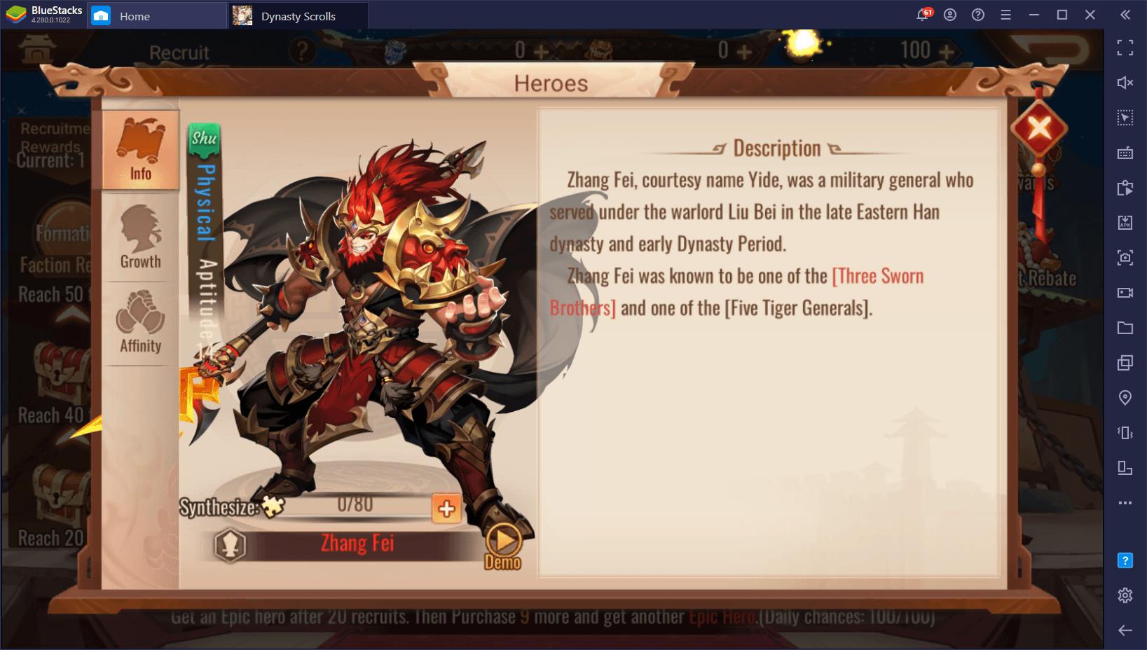 Os 5 melhores personagens de Dynasty Scrolls