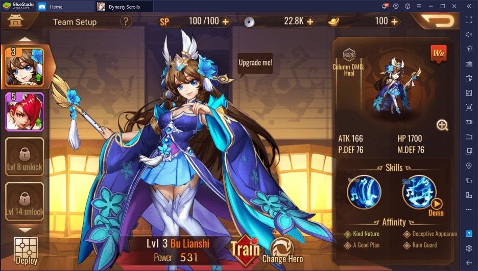 Рерол в Dynasty Scrolls или Как получить Лучших персонажей в начале игры?