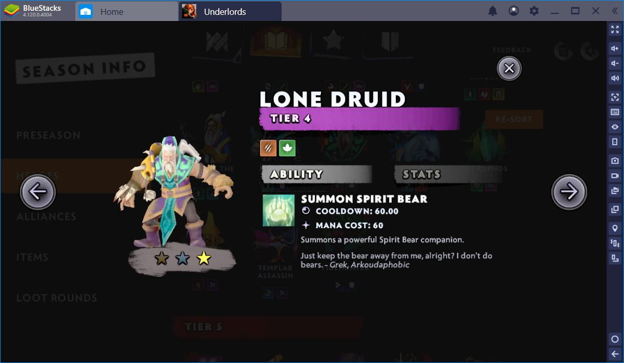 Dota Underlords - Savages and Druids that Rock the Early Game