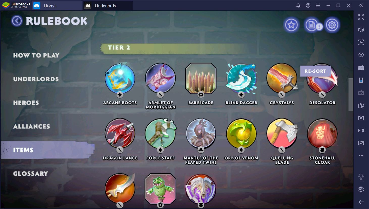 Dota Underlords on PC: Season 1 Updated Items List