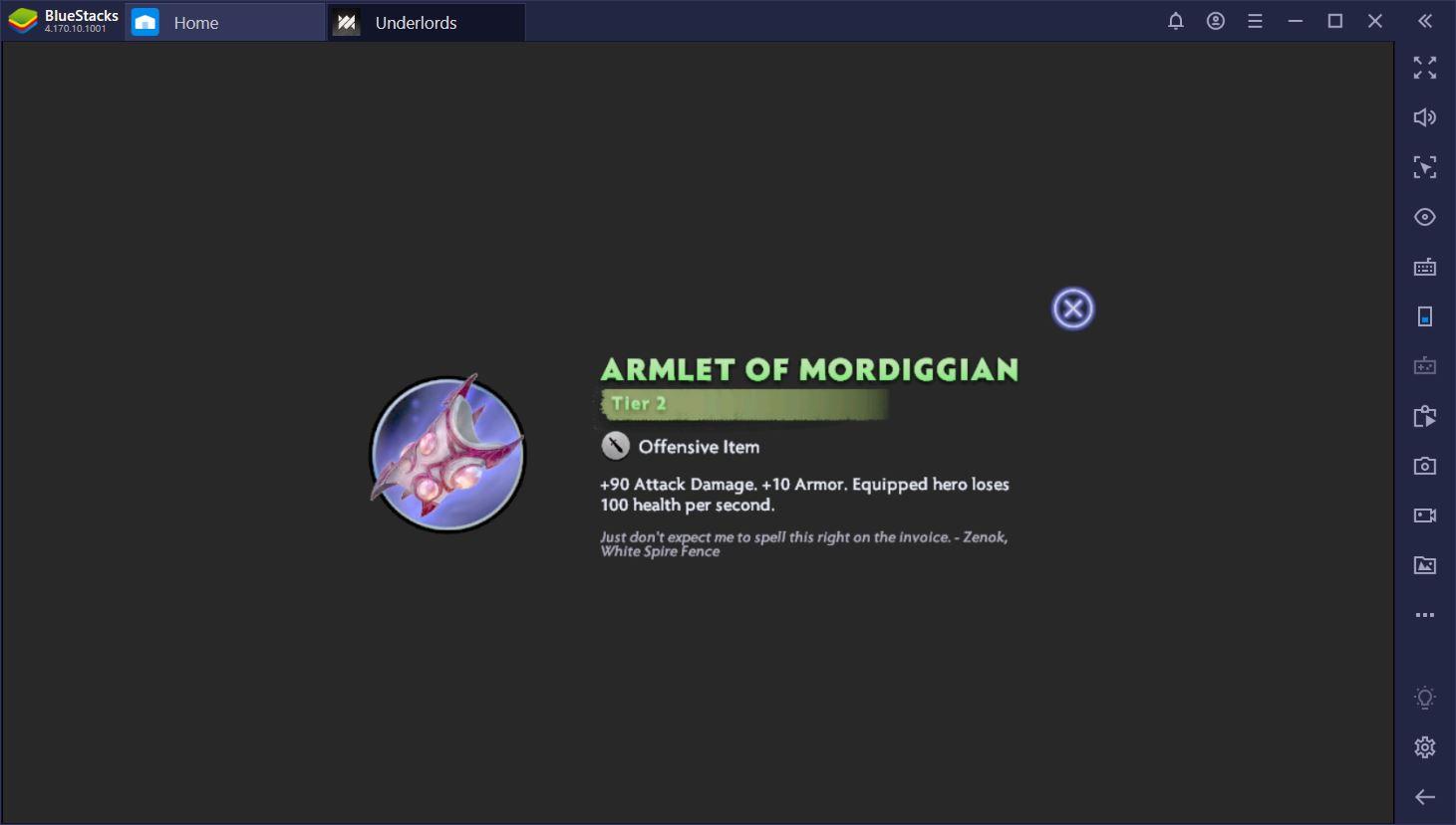 Dota Underlords on PC: Season 1 Updated Items List