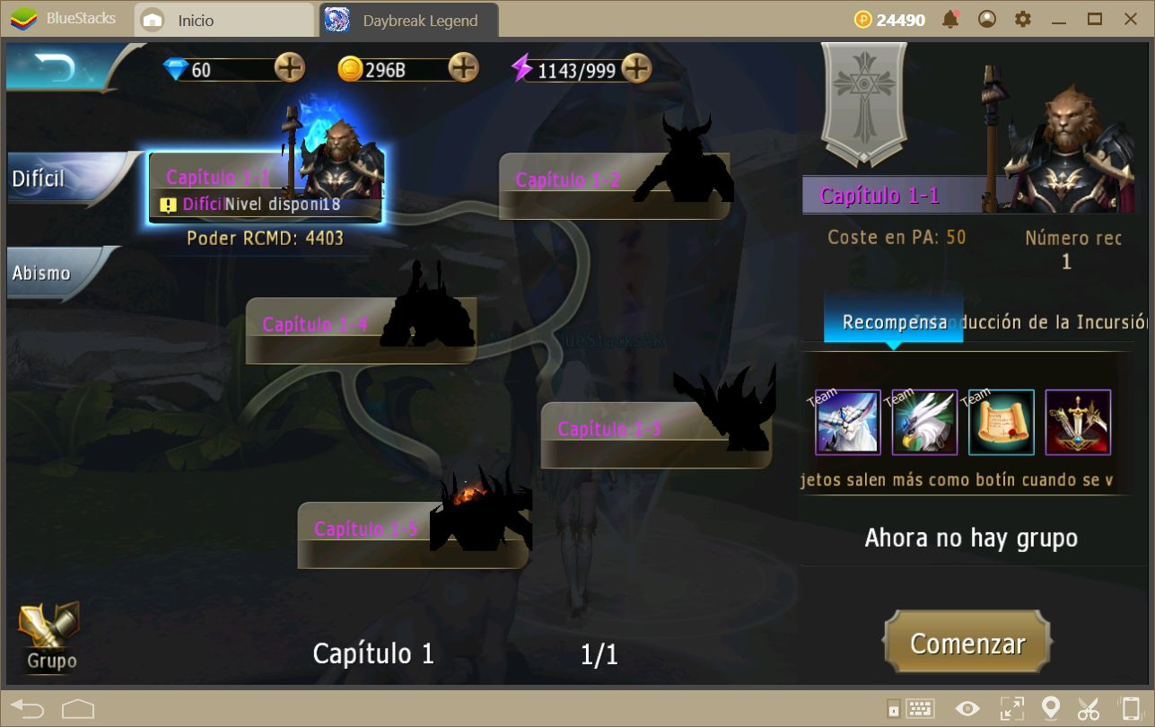 Aumentando tu Poder en Daybreak Legends