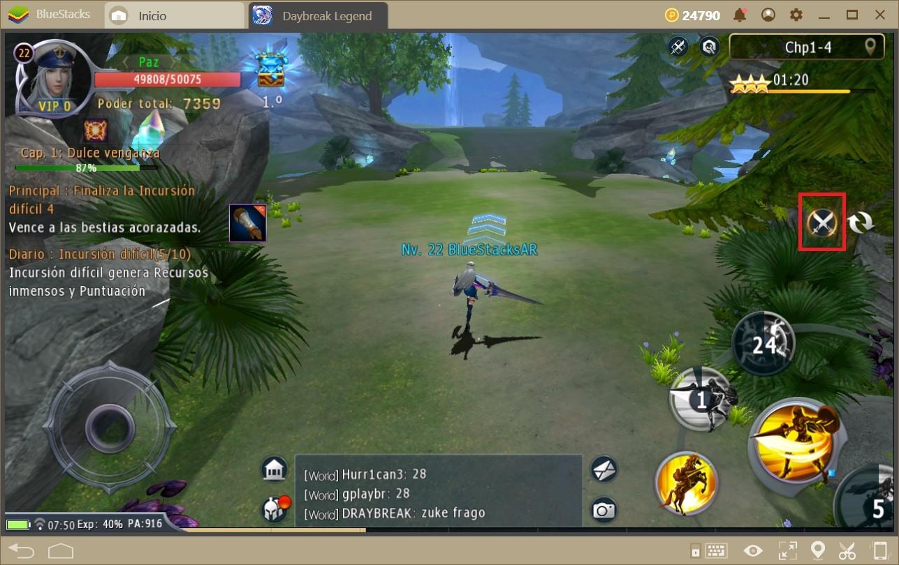 Cómo Progresar Rápidamente en Daybreak Legends