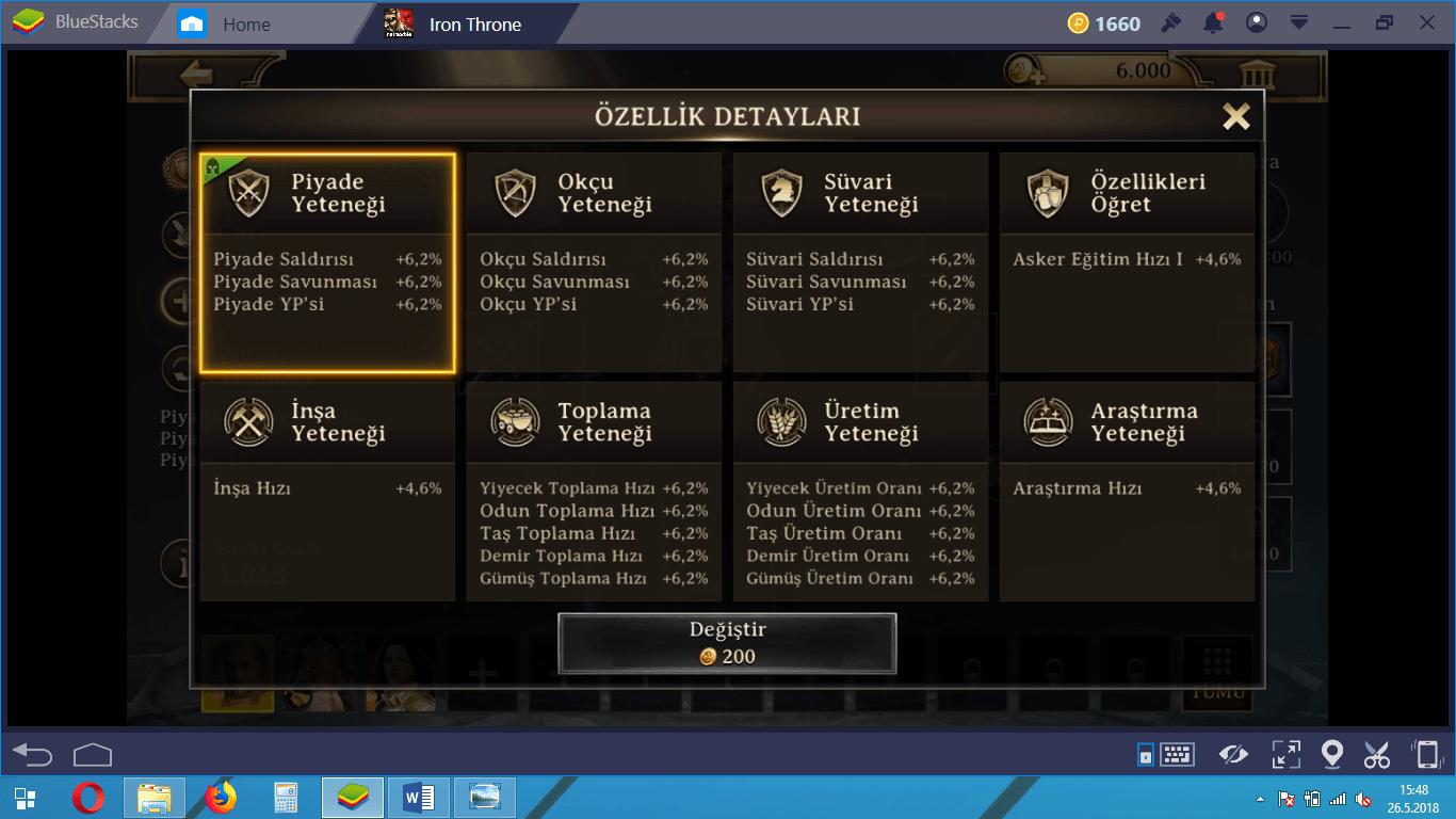 Iron Throne Kahramanları ve Seviye Atlama Rehberi