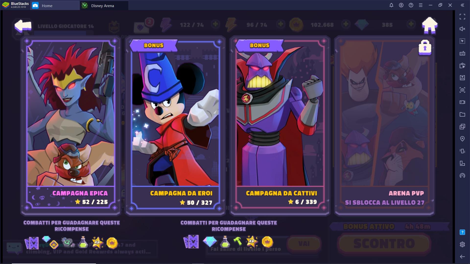 Trucchi e Consigli per Disney Sorcerer's Arena