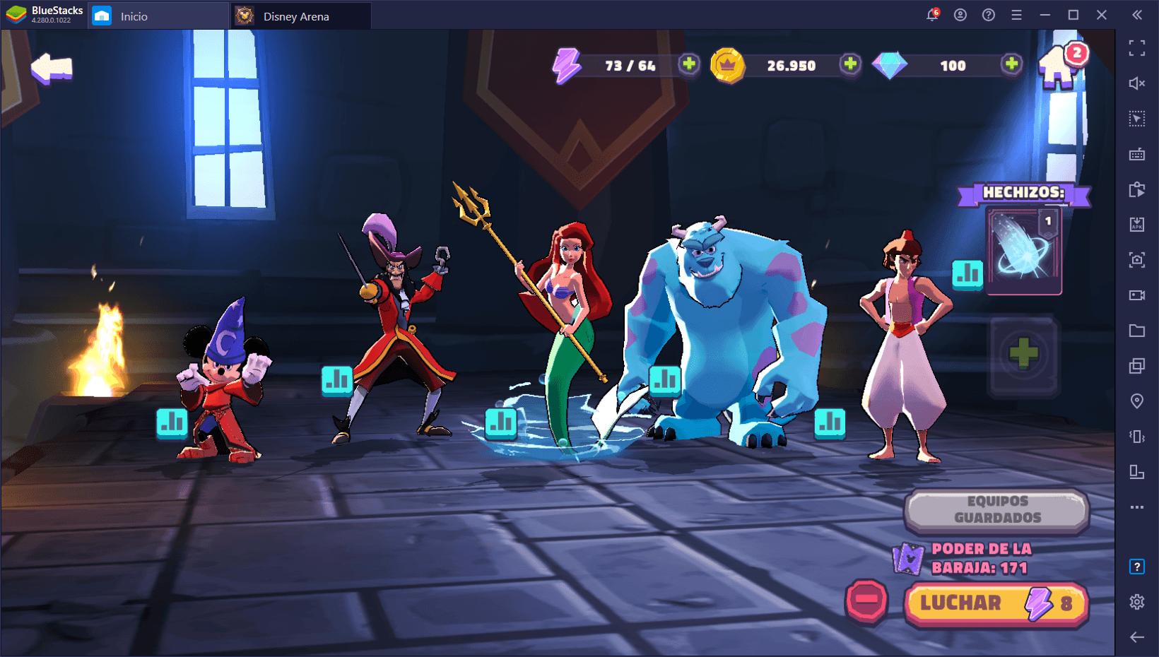 Cómo Jugar Disney Sorcerer's Arena en PC con BlueStacks