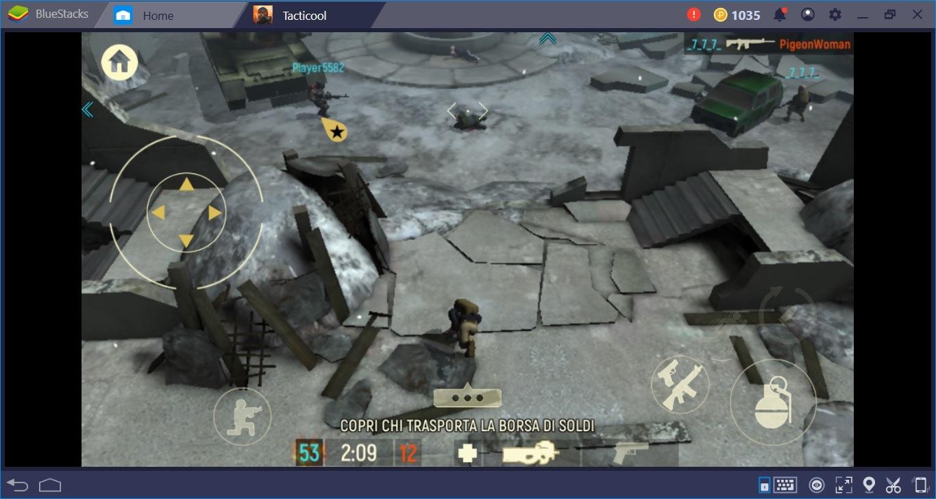 Spara e colpisci avversari in buona compagnia: i migliori trucchi per Tacticool su BlueStacks
