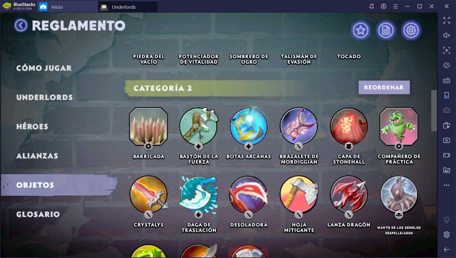 Dota Underlords – Lista de Items Actualizada Para Season 1