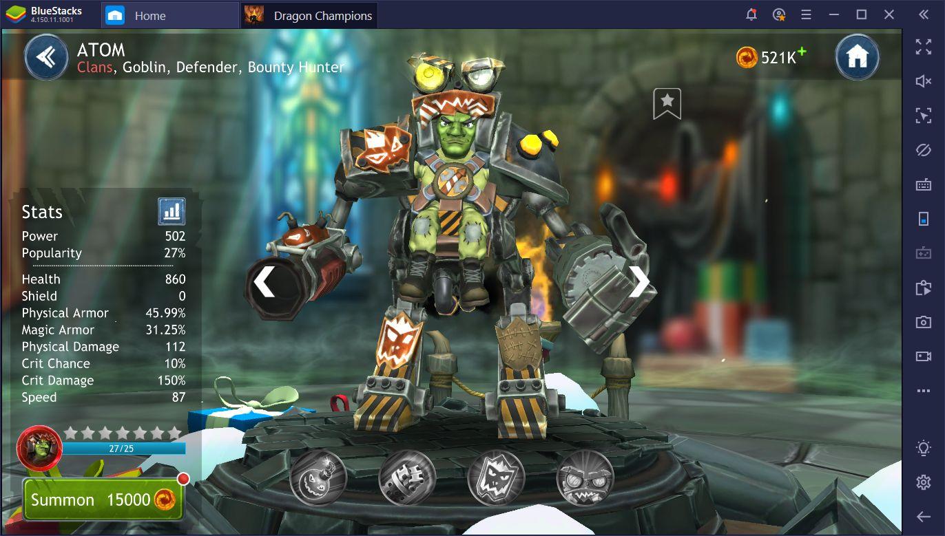 Dragon Champions sur PC – Comment obtenir et améliorer des héros