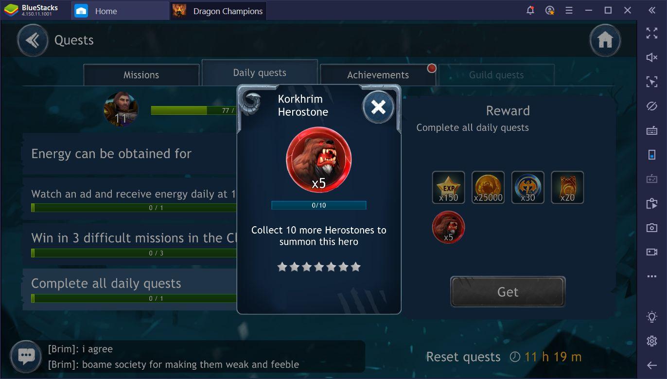 Dragon Champions sur PC - Comment obtenir et améliorer des héros
