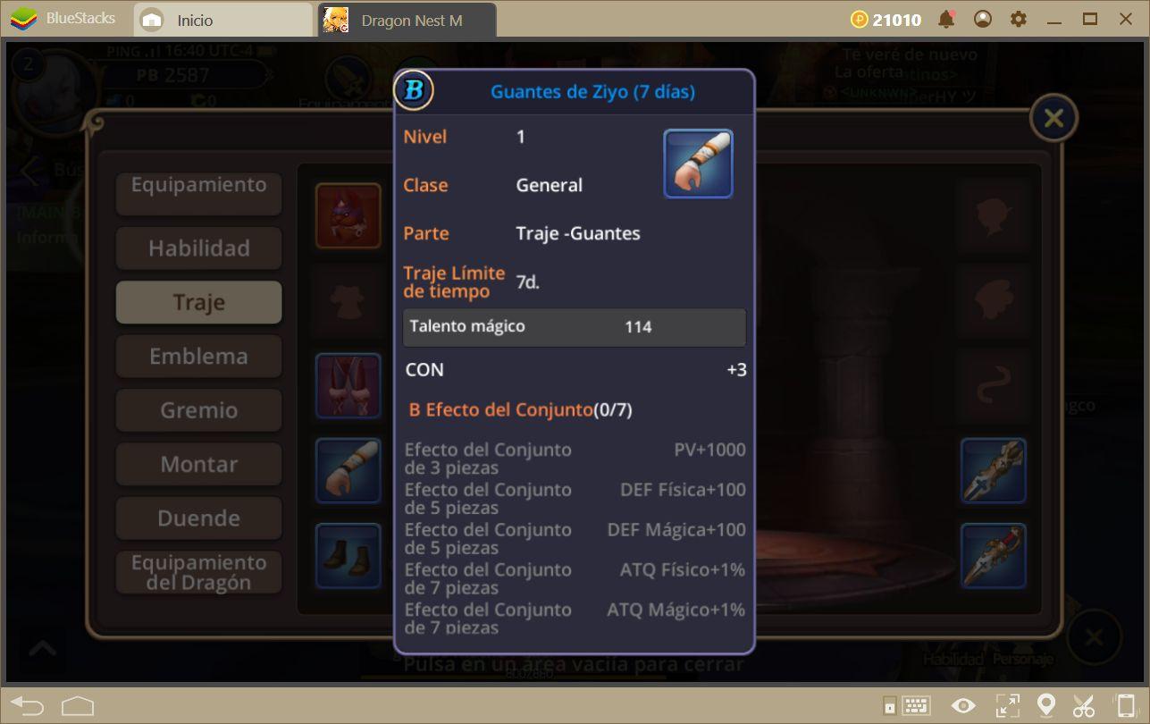 Aumentando tu Poder en Dragon Nest M