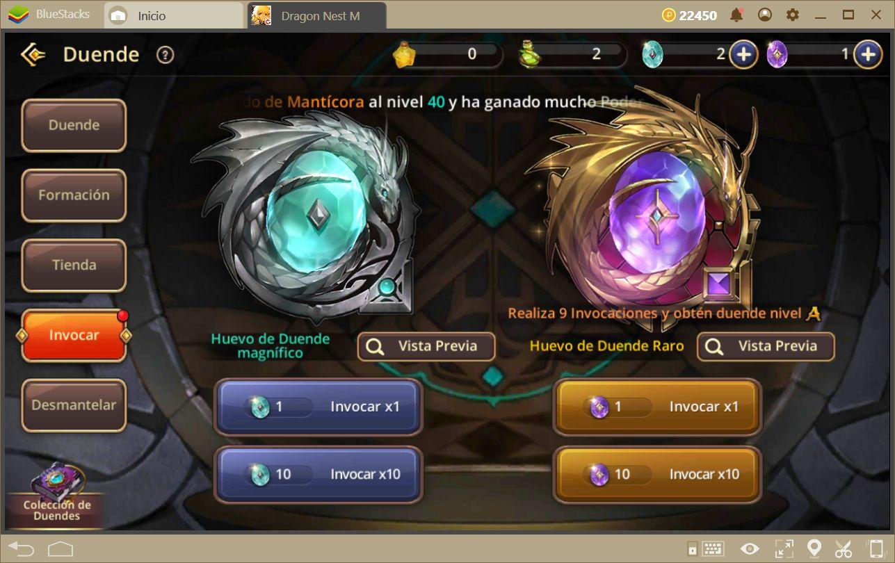 Guía Para los Duendes de Dragon Nest M