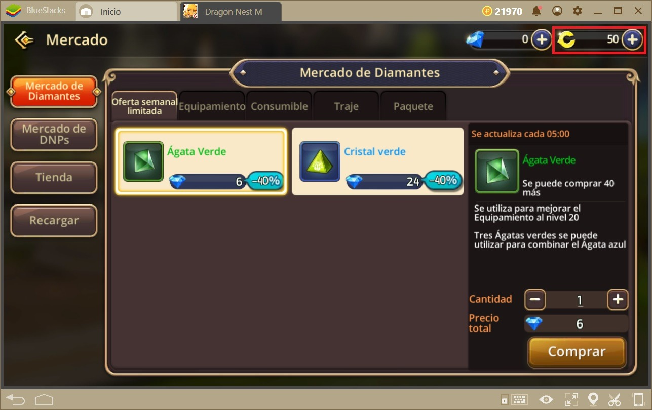Cómo Acumular DNP en Dragon Nest M