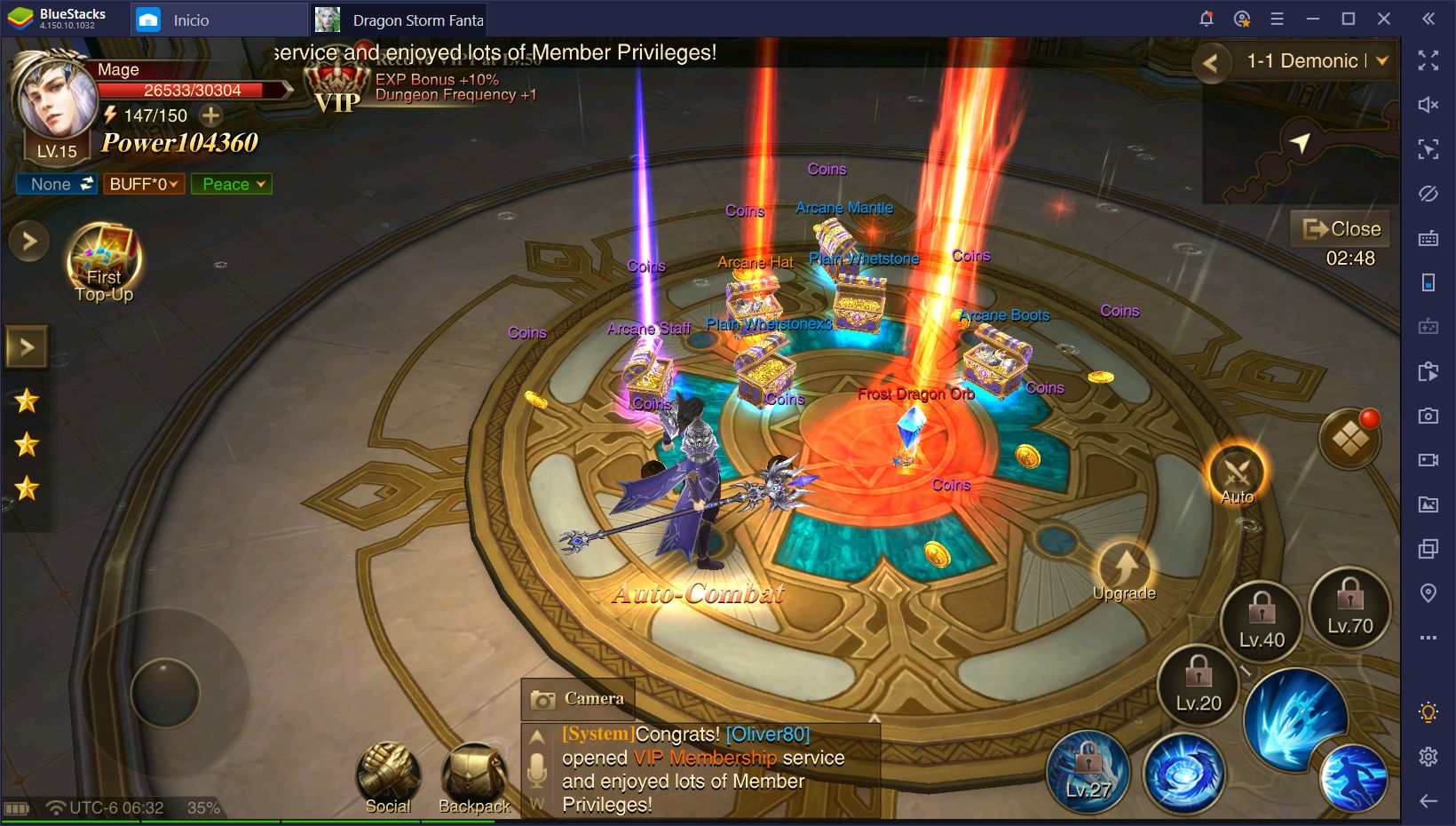 Dragon Storm Fantasy en PC - Libera a tu Dragón Interno con BlueStacks