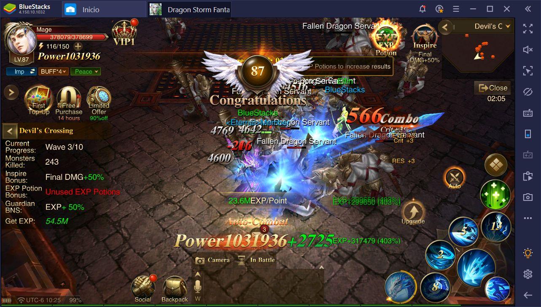 Dragon Storm Fantasy - Consejos para Subir de Nivel Rápido y Adquirir Podersoso Equipamientos