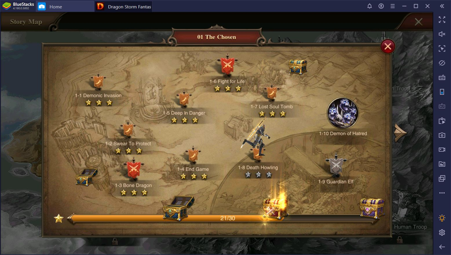 Dragon Storm Fantasy Gold Farming – Using BlueStacks to Generate Gold Automatically
