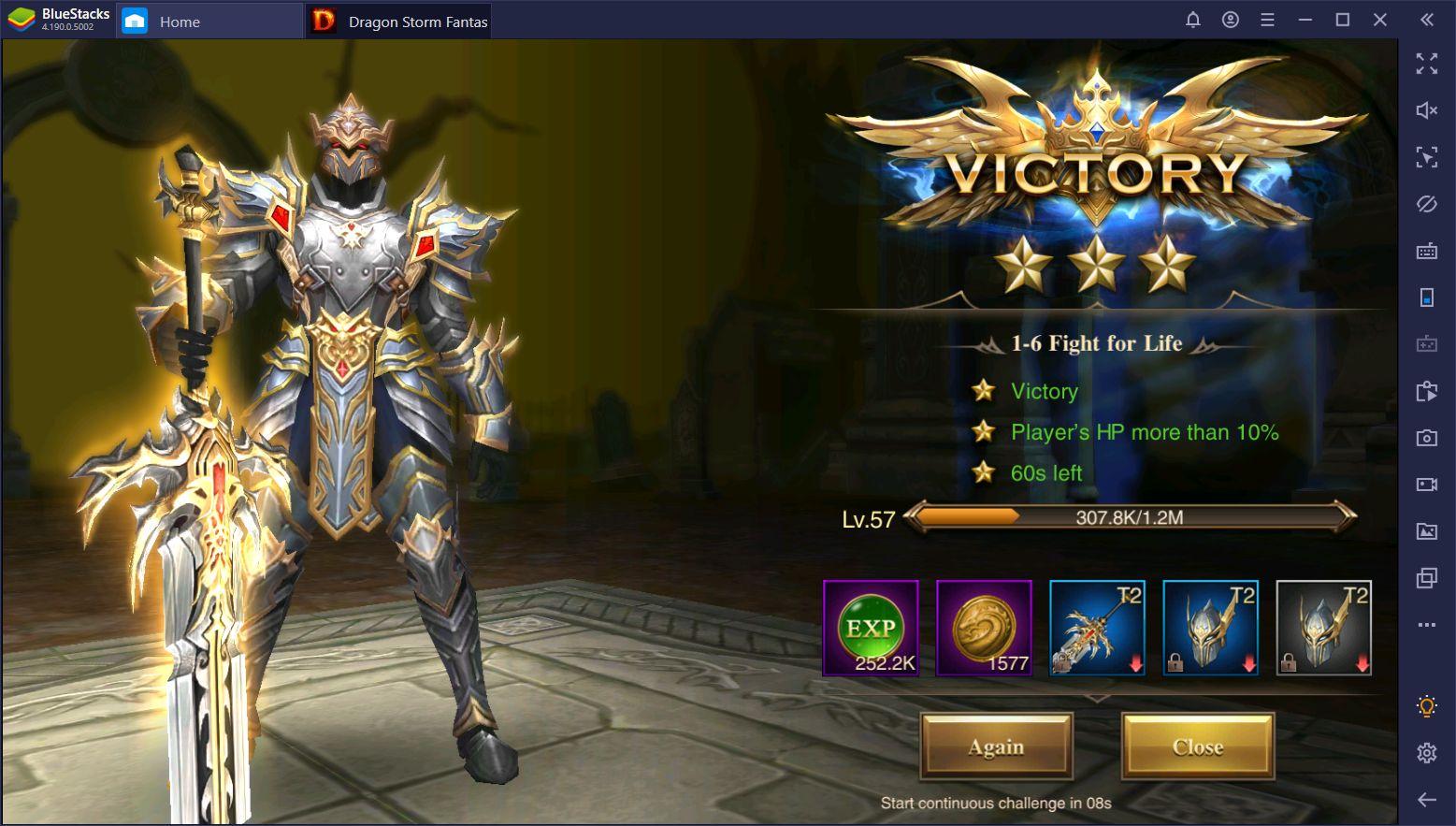 Dragon Storm Fantasy Gold Farming – Using BlueStacks to Generate Gold Automatically