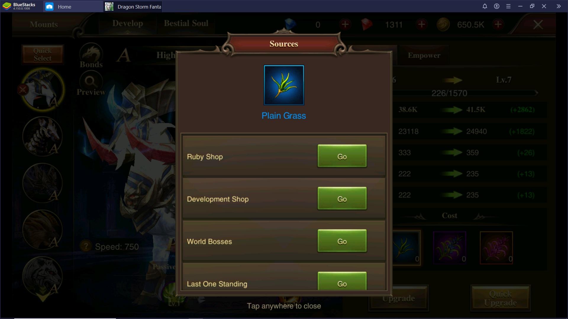 Come aumentare la Potenza del personaggio in Dragon Storm Fantasy
