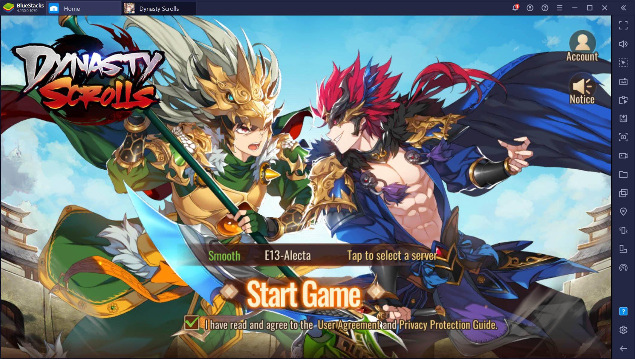 Dynasty Scrolls auf dem PC – So installierst und spielst du dieses Idle-RPG auf BlueStacks