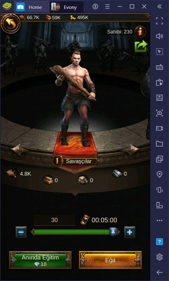 Evony: Kralın Dönüşü Oyununda Güçlü Bir Ordu Sahibi Olun