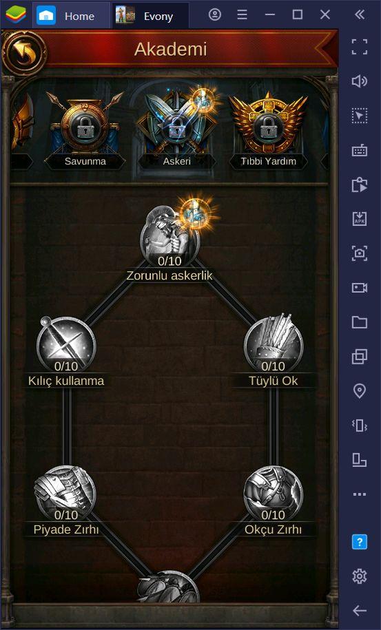 Evony: Kralın Dönüşü Akın ve Savaş Rehberi