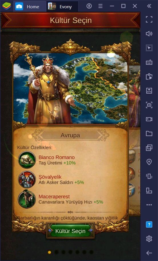 BlueStacks ile Bilgisayarınızda Evony: Kralın Dönüşü Oynayın