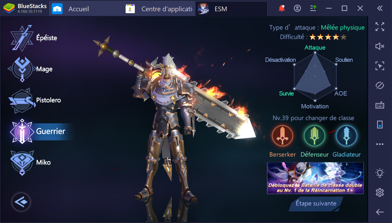 Eternal Sword M sur PC - Guide sur les différentes classes du jeu