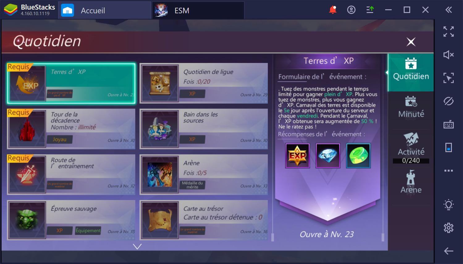 Eternal Sword M sur PC – Guide pour débutants sur les défis quotidiens et les donjons