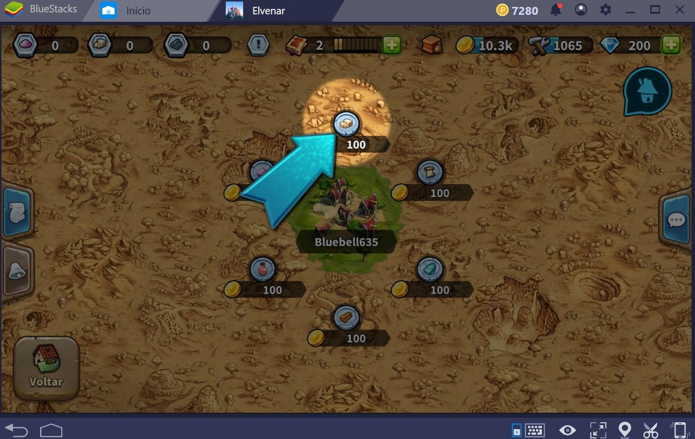Entendendo o mapa em Elvenar