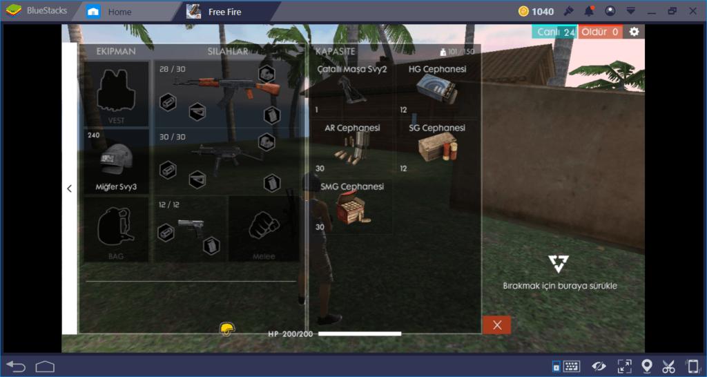 Free Fire:Battlegrounds Silah Rehberi