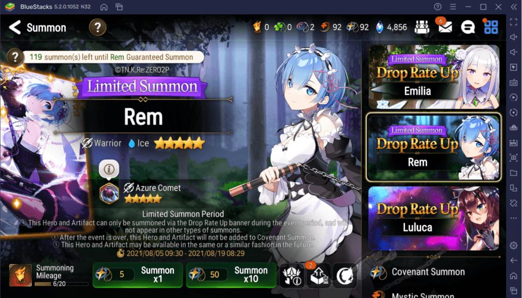Epic Seven – Rem, Emilia und Ram kommen mit RE: Zero Kollaboration
