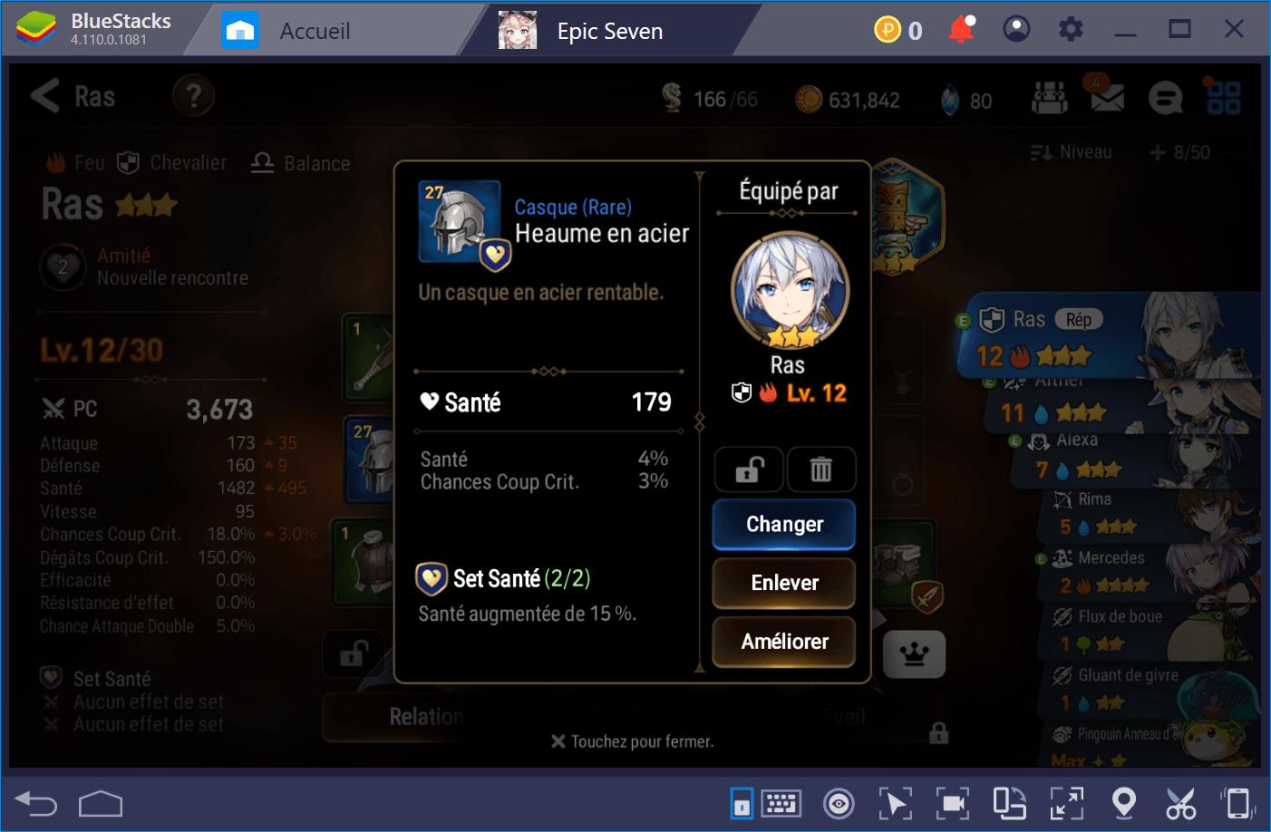 Epic Seven trouver et équiper les meilleurs objets pour vos héros