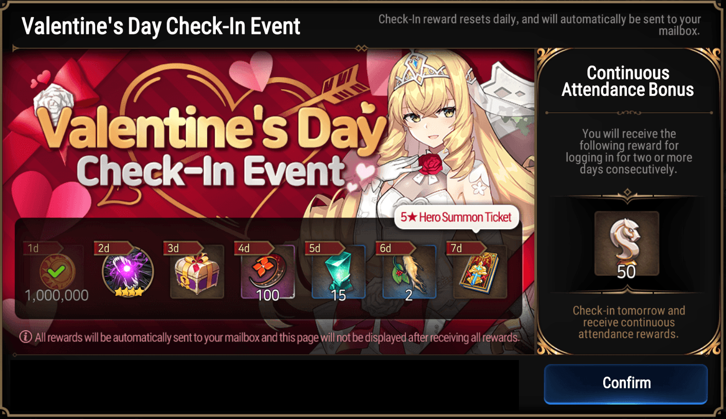 Epic Seven – New Limited Hero Group Summon Banner, Valentine's Day Event, 70 Free Summons, and a New Side Story