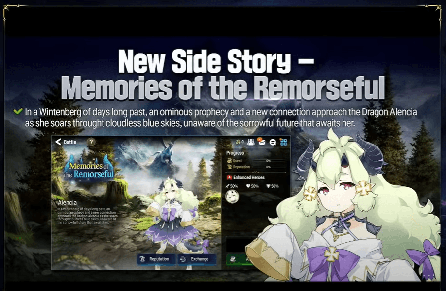 Epic Seven – New Hero Archdemon's Shadow, SC Carmainerose, Alencia Banner with Side Story and More