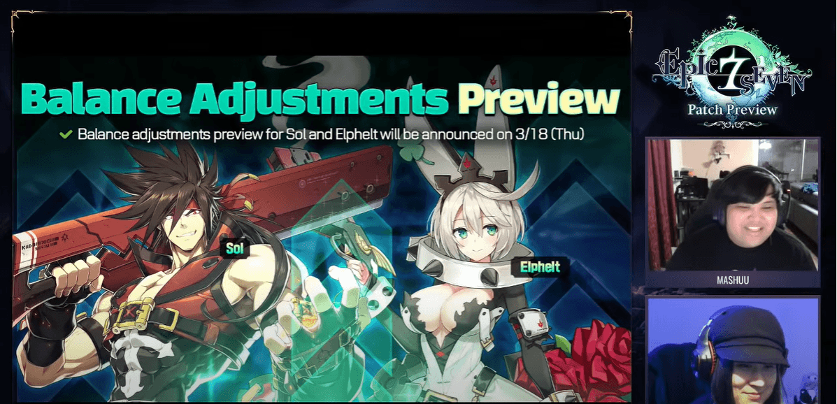 Epic Seven 3/17/21 Patch Brings a Specialty Change Guilty Gear Collab and Much More