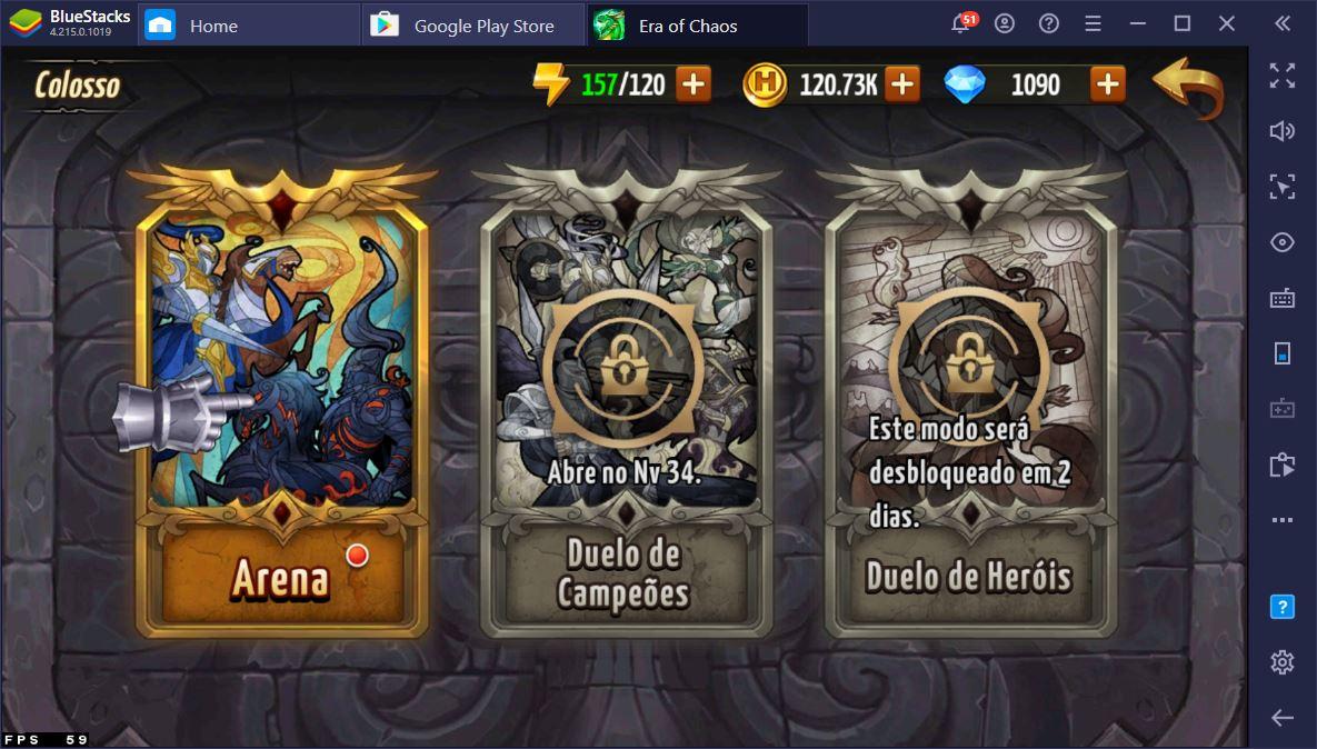Modos de Jogo do game Heroes of Might & Magic: Era of Chaos