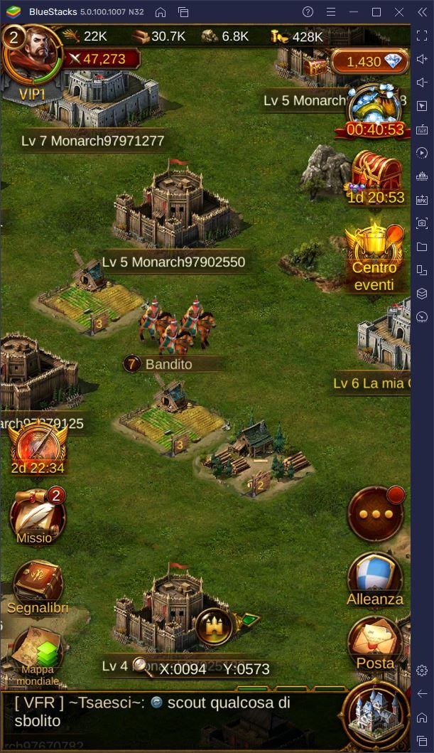 Come funziona la World Map di Evony: The King's Return