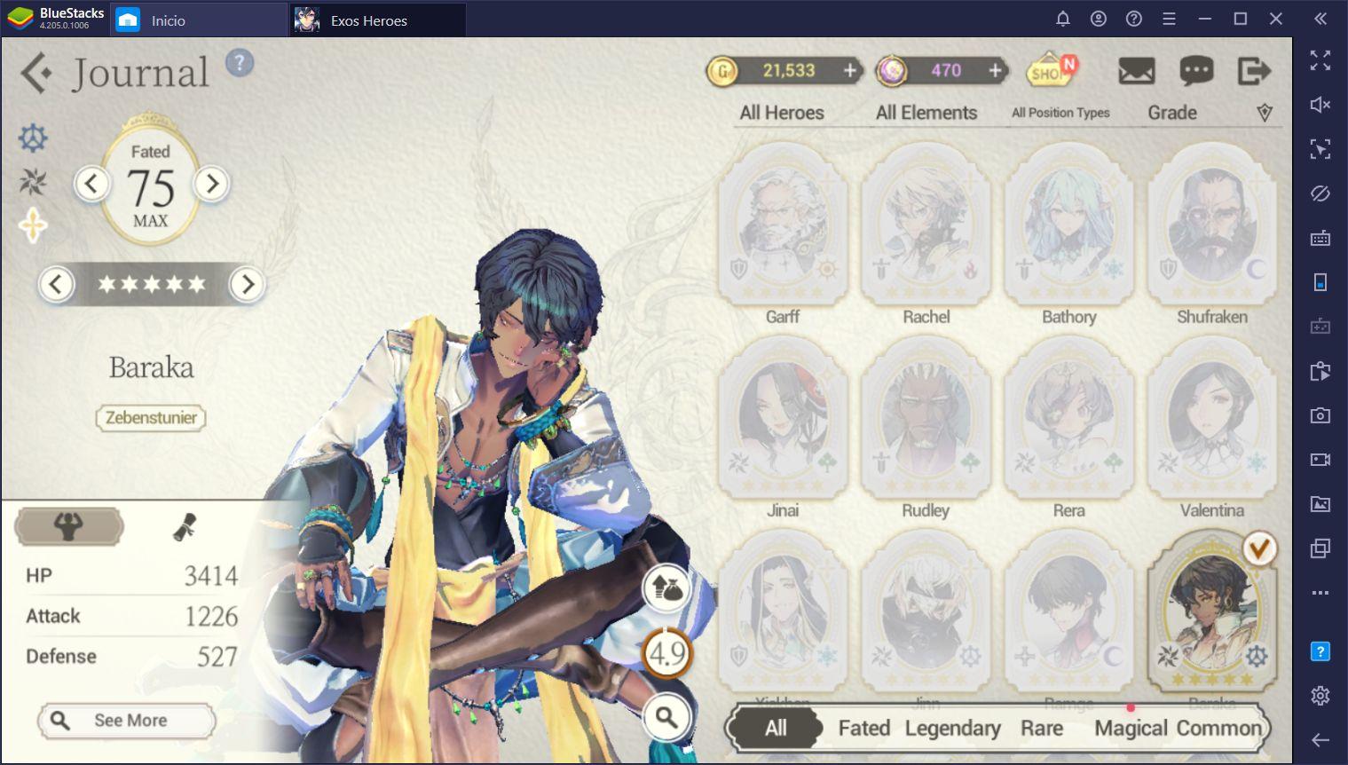Rerolling en Exos Heroes - Cómo Invocar a los Mejores Personajes del Juego