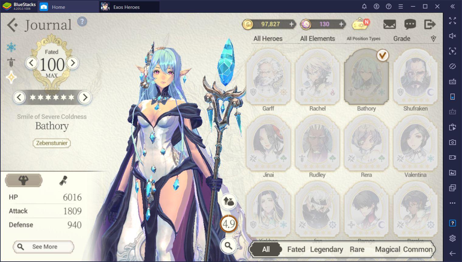 Exos Heroes Account Fate Core Bathory