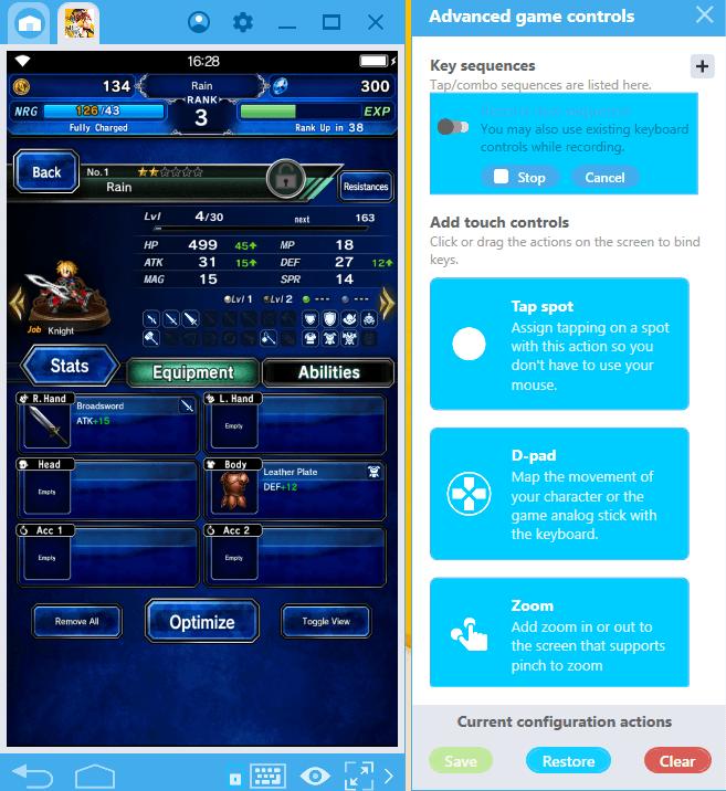 Final Fantasy Brave Exvius bekommt ein Upgrade auf BlueStacks dank der neuen Kombi-Tastenfunktion