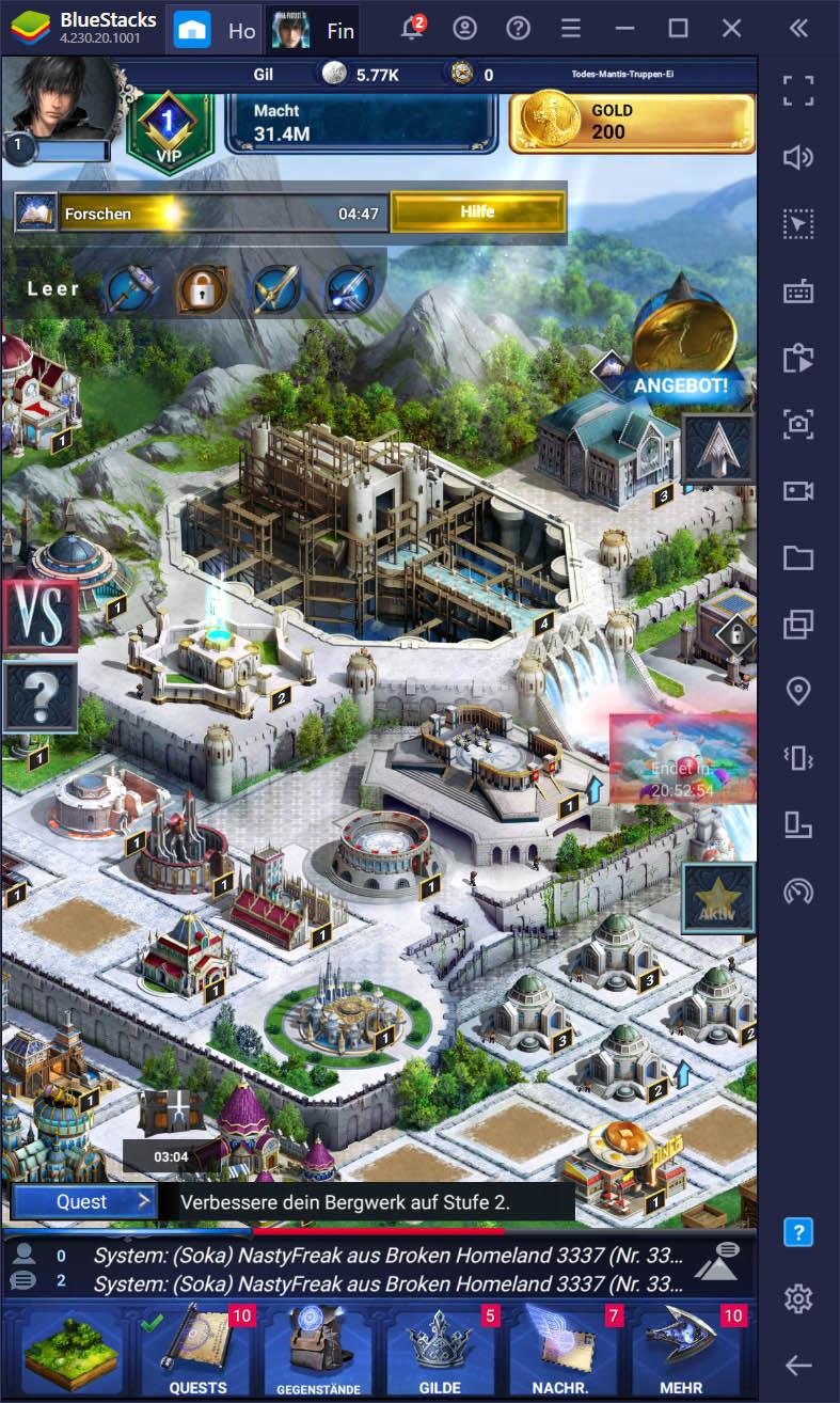 Final Fantasy XV: A New Empire – Der vollständige Leitfaden zu Gebäuden und Basisentwicklung
