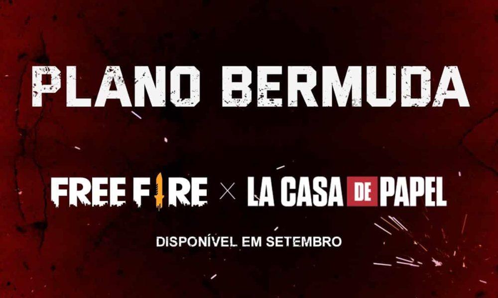 O Plano Bermuda está chegando no Free Fire junto com La Casa de Papel!