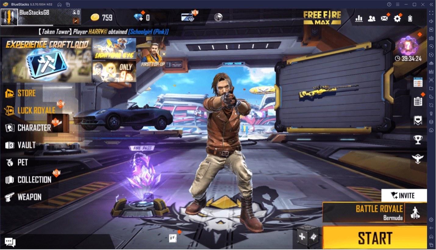 Free Fire MAX на ПК — Используй BlueStacks и побеждай врагов.